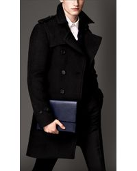 Burberry Modern Fit Wool Alpaca Trench Coat - Lyst
