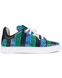 Isa Tapia | Kelly Blue And Green Snakeskin Trainers | Lyst