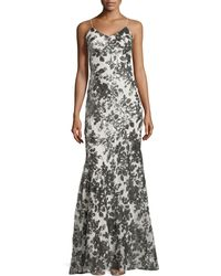 Zac Zac Posen Spaghetti-strap Sequined Mermaid Gown - Lyst