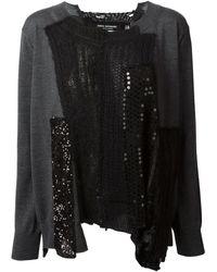 Junya Watanabe Patchwork Design Sweater - Lyst