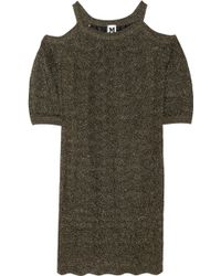 M Missoni Metallic Crochetknit Mini Dress - Lyst