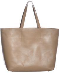 Gvyn - Luca Camel Leather Tote Bag - Lyst