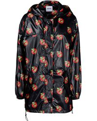 Moschino Cheap & Chic Printed Padded Jacket black - Lyst