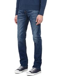 True Religion Geno Jacknife Slimfit Tapered Jeans Blue - Lyst