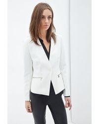 Forever 21 Zip Pocket Blazer - Lyst