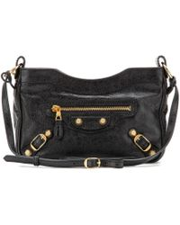 Balenciaga Giant Hip Shoulder Bag black - Lyst
