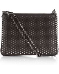Christian Louboutin - Triloubi Large Spiked Leather Shoulder Bag - Lyst