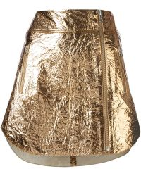 McQ by Alexander McQueen Wrinkled Effect Mini Skirt - Lyst