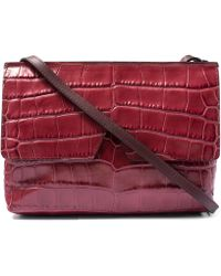 Vince - Red Baby Croc-embossed Leather Bag - Lyst