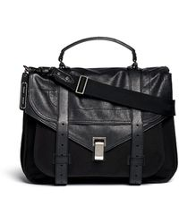 Proenza Schouler 'Ps1' Extra Large Leather Flap Nylon Satchel - Lyst