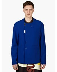 Raf Simons Narrow Fit Short Coat - Lyst