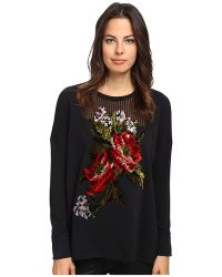 Jean Paul Gaultier - Cotton Fleece A-Line Sweatshirt With Embroidery - Lyst