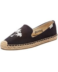 Soludos Smoking Slipper Embroidery black - Lyst