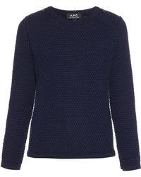 A.P.C.   Shoulder-detail Sweater   Lyst