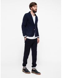 Band Of Outsiders Felted Fleece Mix Blazer - Lyst