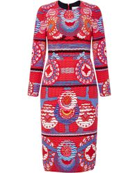 Peter Pilotto | Long Sleeved Printed Start Dress | Lyst