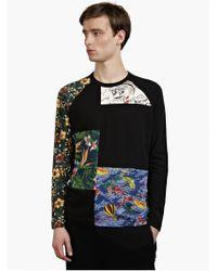 Y-3 Men'S Black Long-Sleeved Fabmix T-Shirt multicolor - Lyst