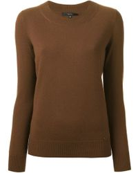 Gucci Brown Knit Sweater - Lyst