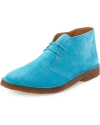 Ralph Lauren Collection Michael Suede Chukka Boot blue - Lyst