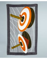 Hermes Grey Spinning Tops Print Cotton Beach Towel - Lyst