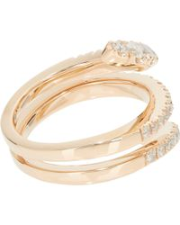 Roberto Marroni - Diamond & Red Gold Snake Ring - Lyst