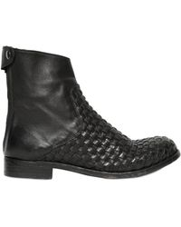 The Last Conspiracy 20mm Audley Calf Leather Woven Boots - Lyst