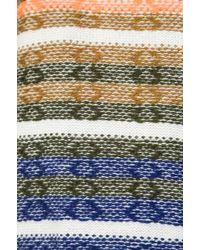 Twelfth Street Cynthia Vincent - Knit Stripe Log Cabin Cardigan in Gray - Lyst