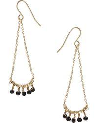 ASOS - Mini Bead Swing Earrings - Lyst