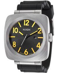 Nixon Mens Volta Pu Solar Black Rubber and Dial Yellow Accents - Lyst
