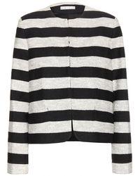 Alice + Olivia Kidman Striped Jacket - Lyst