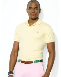 Ralph Lauren Polo Pima Soft Touch Classic Fit Polo Shirt - Lyst