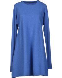 Balenciaga Blue Short Dress - Lyst