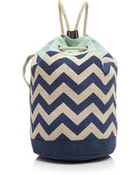 TOMS - Backpack - Reef Chevron Canvas Drawstring - Lyst