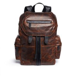 Alexander Wang - 'marti' Distressed Leather Backpack - Lyst