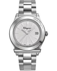 Ferragamo Stainless Steel Watch - Lyst