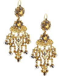 Jose & Maria Barrera | Filigree Chandelier Drop Earrings | Lyst