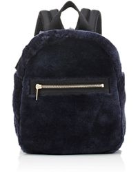Barneys New York - Shearling Backpack - Lyst