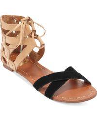 Dolce Vita Dv By Fuji Twopiece Flat Sandals - Lyst