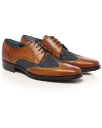 Jules B Leather Tweed Derby Shoes - Lyst