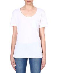 Wildfox Essential Cottonblend Tshirt White - Lyst