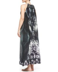 Camilla Printed Beaded Tieback Coverup Dress - Lyst