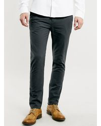 Topman Selected Homme Kane Mini Check Slim Trousers - Lyst
