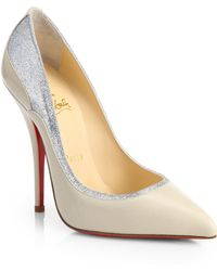 Christian Louboutin Tucsy Two-Tone Leather Pumps - Lyst
