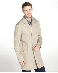 Burberry Brit Khaki Cotton Burley Trench Jacket - Lyst
