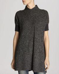 Karen Millen Sweater - Tweed Mock Neck Tunic - Lyst