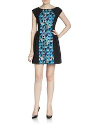 Plenty by Tracy Reese Fit-And-Flare Geometric Dress - Lyst