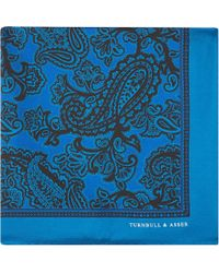 Turnbull & Asser Paisly Tonal Pocket Square Handkerchief - Lyst