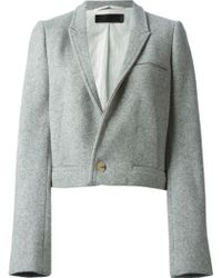 Haider Ackermann One Button Cropped Jacket - Lyst