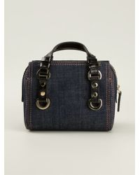 DSquared2 Blue Denim Clutch - Lyst