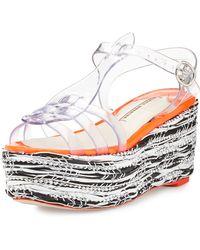 Sophia Webster Suki Jelly Platform Wedge Sandal - Lyst